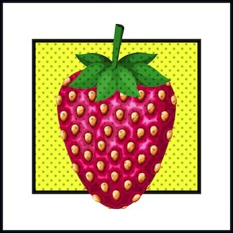 Fragola dolce stile pop art