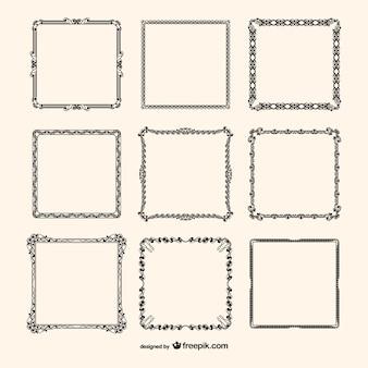 Frame vector calligrafici