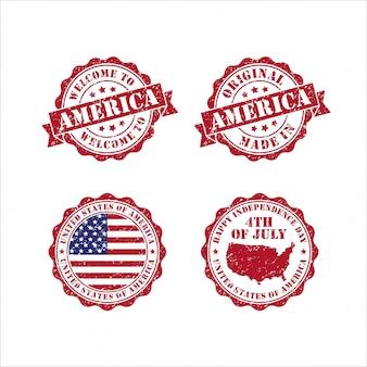 Francobolli uniti dichiarati collezione americav