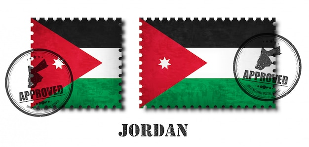 Francobollo modello jordan o jordanian pattern