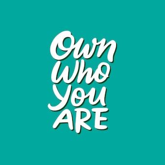 Frase di motivazione tipografia in mano disegnata stile lettering