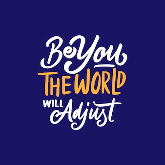 Frase di motivazione tipografia in mano stile lettering