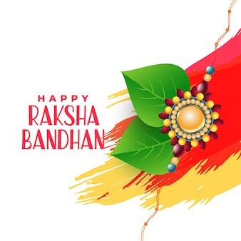 Fratello e sorella che legano il fondo bandhan di raksha
