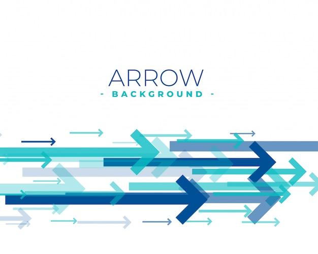 Frecce blu che si muovono in avanti sullo sfondo di colore blu