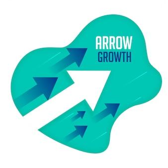 Frecce di crescita che si muovono in avanti concetto di direzione