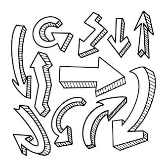 Frecce di doodle