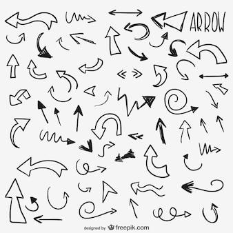 Frecce disegnate pacco