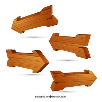 Frecce in legno