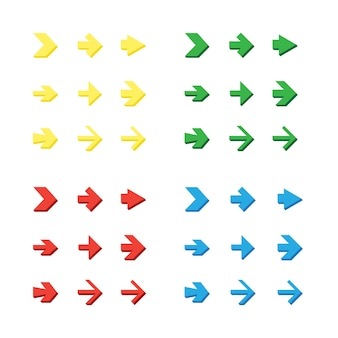 Frecce isolate impostate, annulla e pulsanti precedenti