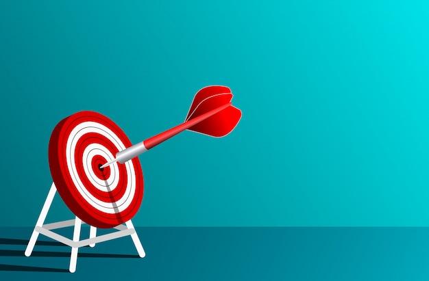 Frecce rosse dardi nell'illustrazione del cerchio dell'obiettivo
