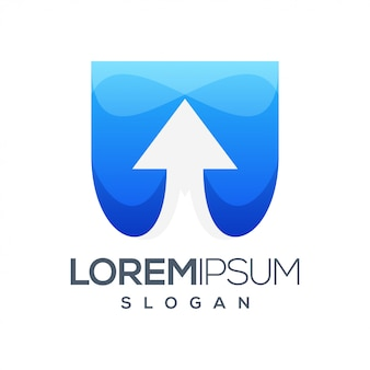 Freccia colorata gradiente logo design