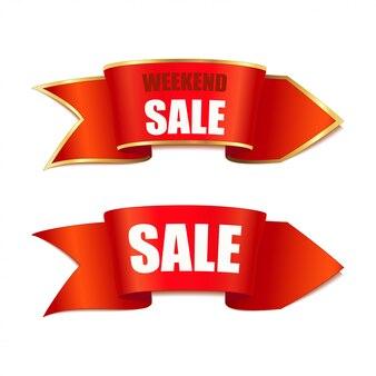Freccia di banner di vendita