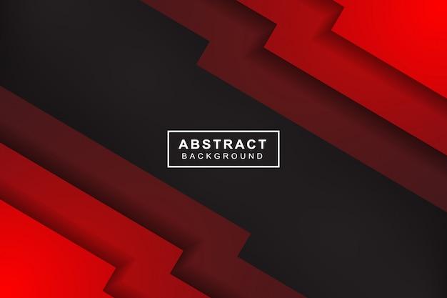 Freccia rossa astratta sul fondo futuristico moderno di progettazione della maglia del cerchio grigio scuro