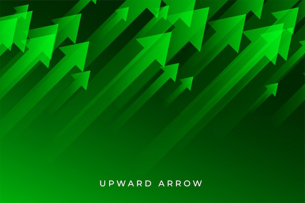 Freccia verde di crescita di affari che mostra tendenza al rialzo