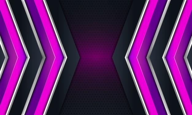 Freccia viola su sfondo nero scuro