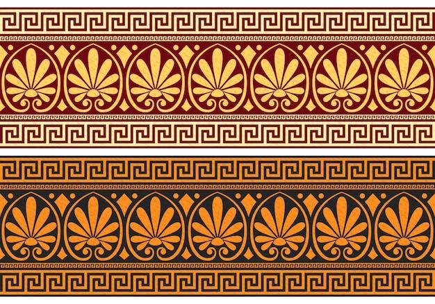 Fregio con ornamento greco (meandro)