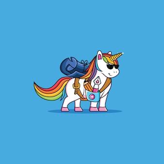 Fresco cartone animato unicorno
