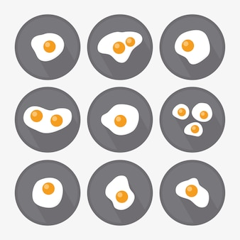 Fritto collezione disegni di uova