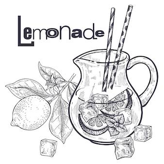 Frullati. cibo dieta sana frutta per la preparazione di limonata