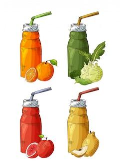 Frullato di frutta biologico con ingredienti