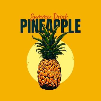Frutta ananas per bevanda estiva