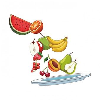 Frutta deliziosa e fresca