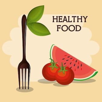 Frutta fresca cibo sano