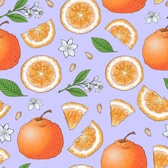 Frutta mandarino colorato e gelato agli agrumi