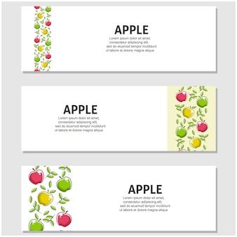 Frutta mela in design piatto