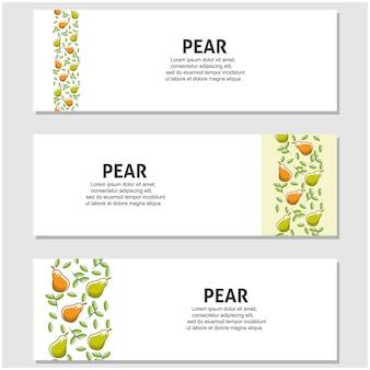 Frutta pera in design piatto