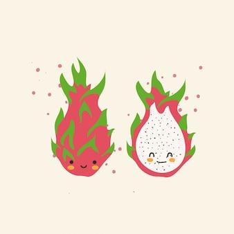 Frutta tropicale con viso carino
