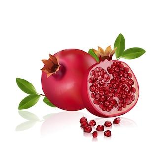 Frutti di melograno fresco