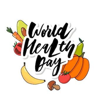 Frutti di verdure di giornata mondiale della salute