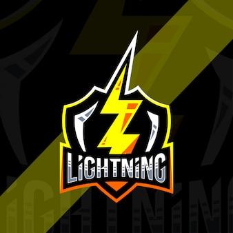 Fulmine distintivo logo modello di progettazione