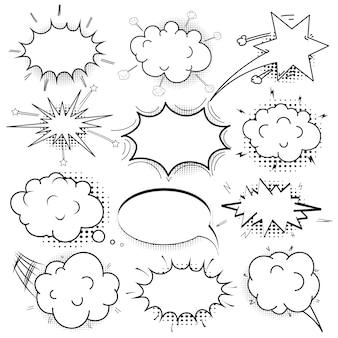 Fumetti comici impostati. nuvoletta in stile pop art.