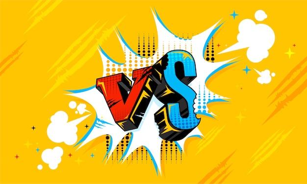 Fumetti di sfondi versu vs fight.