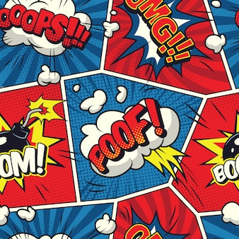 Fumetti fumetti seamless pattern