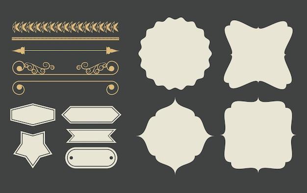 Fumetto decorativo degli emblemi del nastro