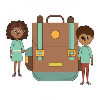 Fumetto dei bambini di istruzione scolastica