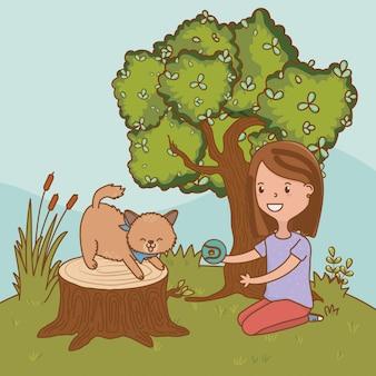 Fumetto del bambino felice infanzia