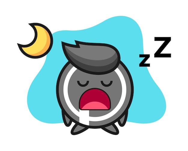 Fumetto del disco da hockey che dorme alla notte