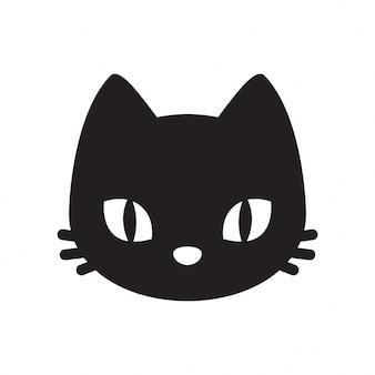 Fumetto del gattino della testa di vettore del gatto