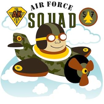Fumetto del giocattolo del mestiere dell'aria di volo