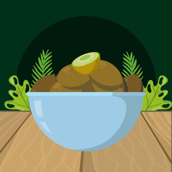 Fumetto del kiwi di frutta fresca
