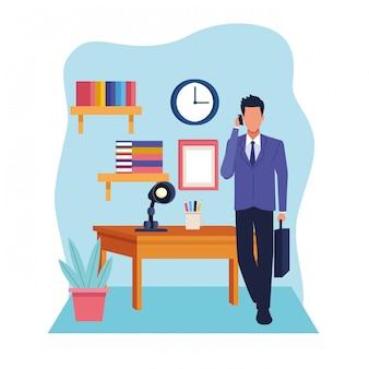 Fumetto del lavoro esecutivo professionale di affari