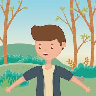 Fumetto del ragazzo dell'adolescente