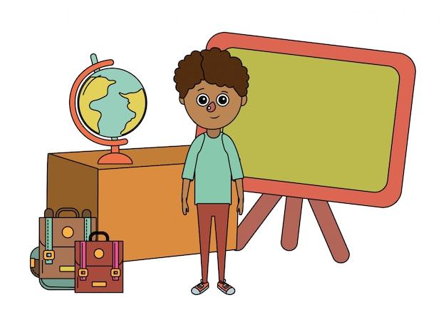 Fumetto del ragazzo di istruzione scolastica