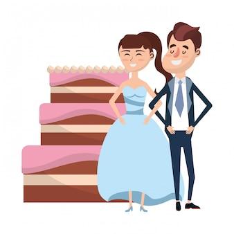Fumetto del ritratto di nozze