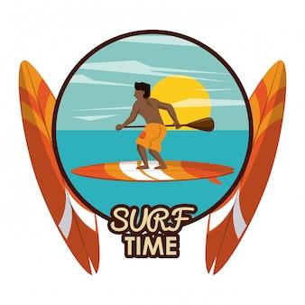 Fumetto del tempo di surf