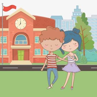 Fumetto dell'adolescente e del ragazzo dell'adolescente